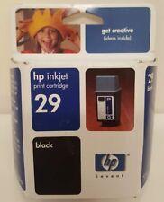 HP Inkjet Print Cartridge 29 BLACK Ink Printer Officejet Scanner Copier Deskjet