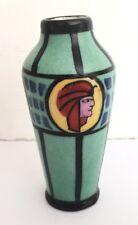 Petit vase Art Deco en porcelaine céramique peinte, a identifier, Renoleau Boch?