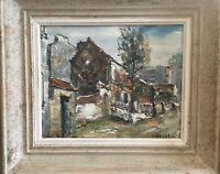 Vintage Oil on Canvas of Montmartre France by Listed Artist Raymond Besse