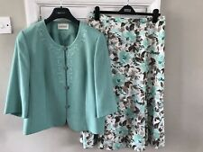 Ladies Eastex Suit Size 16 Mint Green Jacket & Floral Skirt