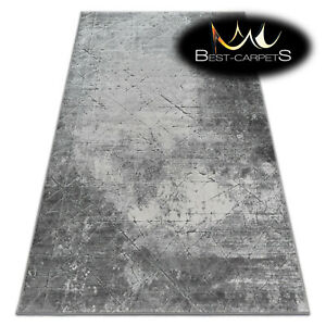 Very Soft Rug 'YAZZ' 100% Acrylic High Quality Unique Design Concrete grey