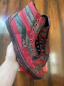 Vans Sk8 Hi House Of Terror Nightmare On Elm Street Freddy Krueger Size 4.5-12