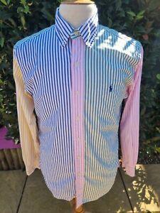 Ralph Lauren Candy Stripe Long Sleeve Shirt Medium