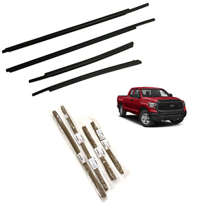 2007-2020 Tundra Door Belt Molding Weatherstrip (DOUBLE CAB)(SET) Genuine Toyota