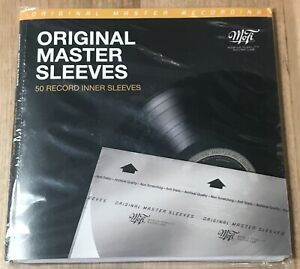50x MOFI Archival Vinyl LP Record INNER Sleeves Mobile Fidelity MFSL NEW/SEALED
