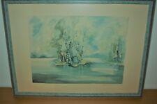 Klara Scholler Aquarell Landschaft ca. 50 x 37 cm Original 1994