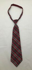 Gymboree ALL ABOARD HOLIDAY Boys Kids Necktie Plaid Red Balck Christmas 3+ Up