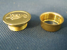 Rayo Oil Lamp Replacement Solid Brass Screw in Oil Fill Cap and Threaded Collar