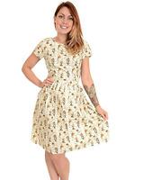 Mujer Run&fly Retro Vintage Estilo 50's Te Vestido con Alice In Wonderland