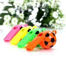 5X Football Shape Plastic Whistle Children Toys Hockey Rugby Game Referee Supply