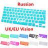 Russian UK/EU Keyboard Cover Skin for Apple Macbook Air Pro Retina MAC 13 15 17