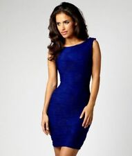d3e02147b36b Lipsy Sexy Bodycon Dress Size 8 Blue Ripple Detail Smart Evening Party  Wedding