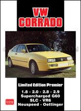 Book VW Corrado Volkswagen Press articles SLC VR6 G60 Neuspeed