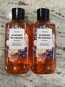 Bath & Body Works ALMOND BLOSSOM Shower Gel LOT OF 2 - 10 fl oz *New