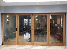 Solid Oak Hardwood Bi-Folding Doors!!! Made to measure!!! Bespoke!!!