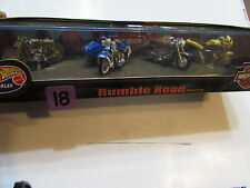 HOT WHEELS COLLECTIBLES HARLEY DAVIDSON RUMBLE ROAD THUNDERBOLT S3 FATBOY 4 PACK