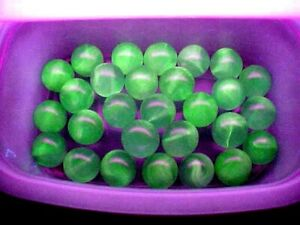 10  UV REACTIVE  VASELINE SWIRL URANIUM JABO GLASS MARBLES $7.99 LOT A