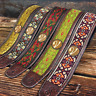 Handmade Vegan Woodstock 60's 70's Style Guitar Strap by VTAR  Electric Acoustic