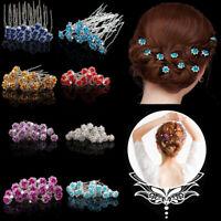 40 Pcs Fashion Wedding Bridal Pearl Crystal Flower Hair Pins Clips Bridesmaid
