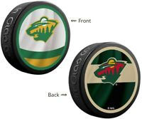 Minnesota Wild NHL Reverse Retro Dual Logo Souvenir Hockey Puck