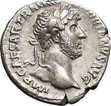 Hadrian Bisexual Emperor 125AD Silver Ancient Roman Coin Liberty Cult i51177