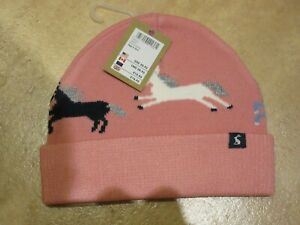 Joules Girls Pink Unicorn Hat age 3 - 7 years BNWT £16.95