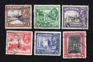 Cyprus 1934 6 stamps SG#134-139 used CV=20$