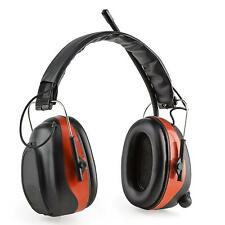 Casque de protection audition anti bruit chantier travaux Bluetooth SNR rouge