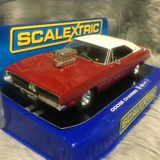 Scalextric 1:32 1969 Dodge Charger Hot Rod Red/White C3317