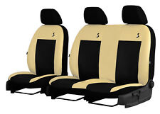 RENAULT TRAFIC 2+1 2001-2014 ECO LEATHER SEAT COVERS MADE TO MEASURE TAILORED