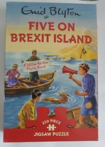 ENID BLYTON - FIVE ON BREXIT ISLAND - 250 PIECE JIGSAW PUZZLE 2017 GIBSONS