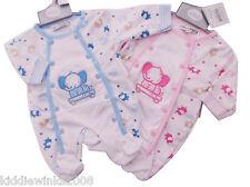 Nevo Con Etiqueta Pequeño Bebé niño PREMATURO Preemie Baby Elefante Pijama Ropa