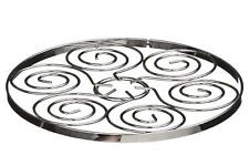 Chrome Swirl Kitchen Trivet Pan Pot Silver Holder Cooker Worktop Saver