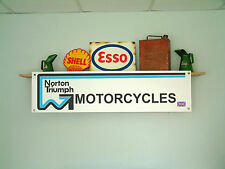 Norton Triumph Banner for Retro Workshop, Garage 1970s NVT
