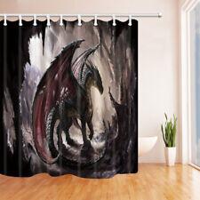 "Pterosaurs Dragon Illusion Animal Waterproof Fabric Bathroom Shower Curtain 71"""