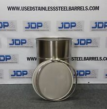 30 Gallon Stainless Steel Barrel Drum Open Top Lid, Gasket, and Bolt Lock NEW