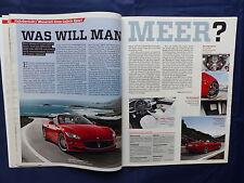 Maserati Gran Cabrio Sport 450PS - Fahrbericht - Auto Motor Sport Heft 17 / 2011