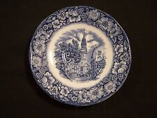 "3 SAUCER PLATES STAFFORDSHIRE LIBERTY BLUE   5 5/8 "" OLD NORTH CHURCH"