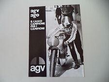 advertising Pubblicità 1974 CASCO HELMET AGV AGO e GIACOMO AGOSTINI