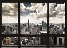 NEW YORK CITY WINDOW - GIANT POSTER 55x40 - MURAL 52820
