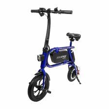 Swagtron 200W Envy Steel Frame Folding Electric Bicycle e Bike Reach 10 mph Blue
