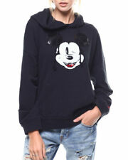Levi's X Mickey Mouse Sequin Graphic Oversized Black Hoodie Size M BNWT RRP £65