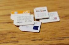 5x At&T, T-mobile, Verizon, Sprint, Metro-Pcs Nano Sim Cards