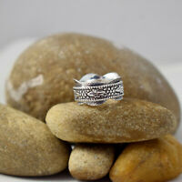 Spin Meditation Tone Band Spinning 925 Sterling Solid Silver Spinner Ring C-2