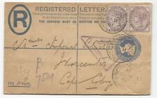 GREAT BRITAIN Fieldpost Cover Registered Letter 1901