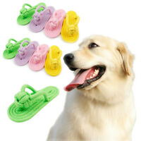 Interactive Dog Toys Pet Large Dog Cotton Rope Slippers Puppy Toy Grind Teeth