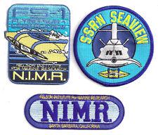 Voyage to Bottom of Sea Seaview/Sub/NIMR Logo Patch Set of 3 (VBPA-Set-3)