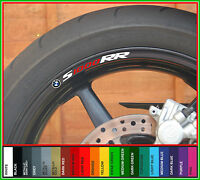 8 x BMW S1000RR Wheel Rim Decals Stickers - s 1000 rr