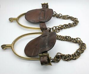 Pair of WW1 cavalry officers stirrups by Maxwell London Coldstream Guards