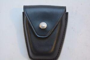 Safariland Handcuff case Plain Black leather New
